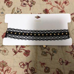 Lace Studded Choker Necklace
